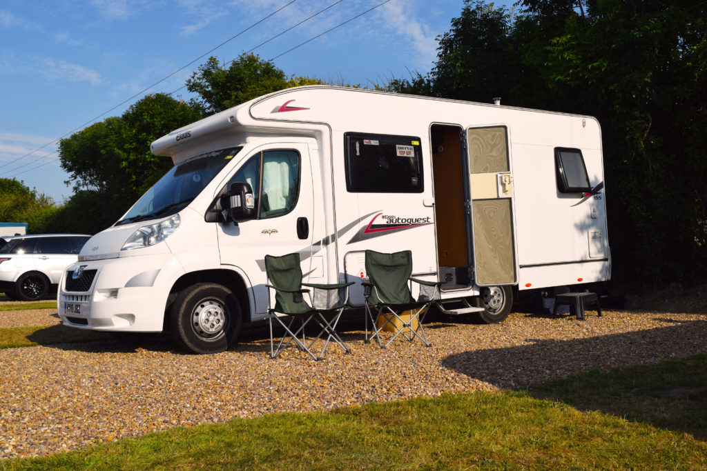 Some of our larger pitches for motorhomes